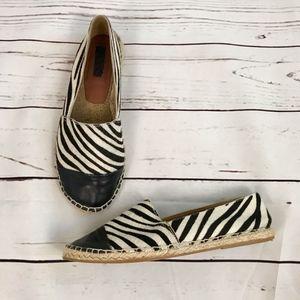 Topshop   Zebra Espadrille Flats